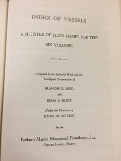 Merchant sail index of vessels title page