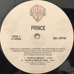 PRINCE:PURPLE MEDLEY(LABEL SIDE-A)