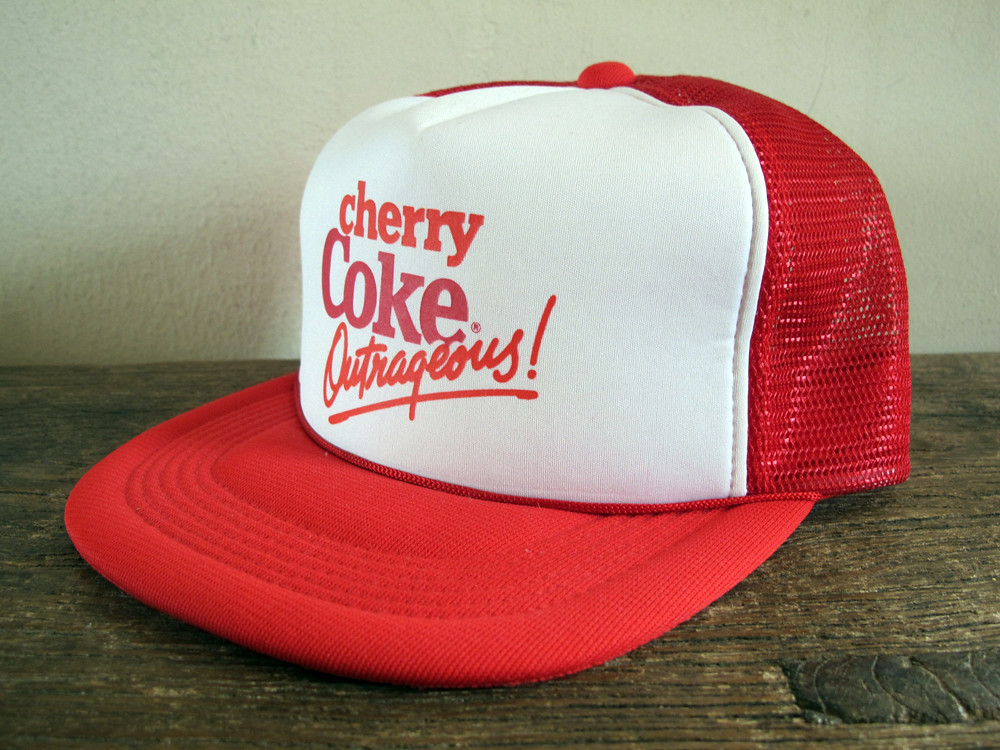 Vintage Big Red Soda Mens Red Trucker Hat Rare Snapback Cap