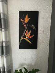 Tableau huile sur toile 40x80