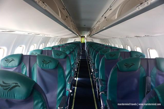 Inside ATR-78 Seater Batanes Cebu Pacific