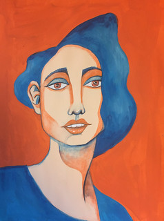 28 - Orange and Blue | by Pict Ink