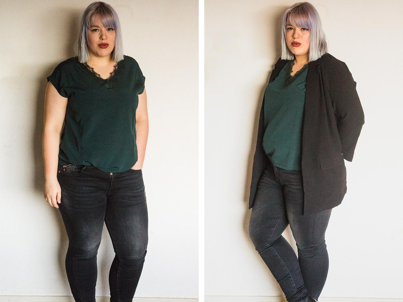 Outfit 1 met groene top