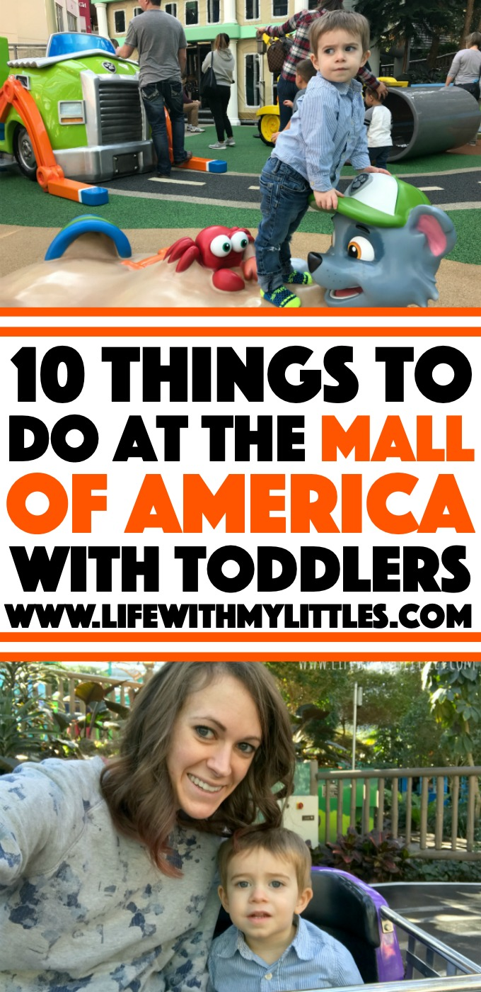 Visiting Minneapolis with toddlers and wondering if the Mall of America is worth going to? It is! Here are ten things to do at the Mall of America with toddlers (besides shopping!), plus a helpful tip on where to park if you're bringing a stroller!