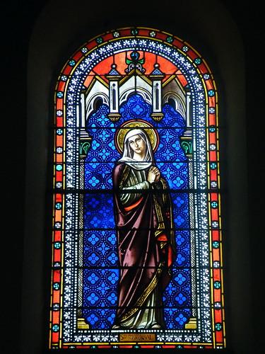 20090601 062 1111 Jakobus Castetnau Kirche Fenster Monika