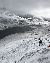 Day2 of day 1 dragons back recce. Tricky winter weather meant crib goch will have to wait until May