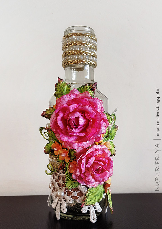 Altered Bottle with Rose_1