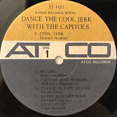 THE CAPITOLS:DANCE THE COOL JERK WITH THE CAPITOLS(LABEL SIDE-A)