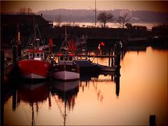 Evening Mood in the Harbor of Niendorf / Baltic Sea