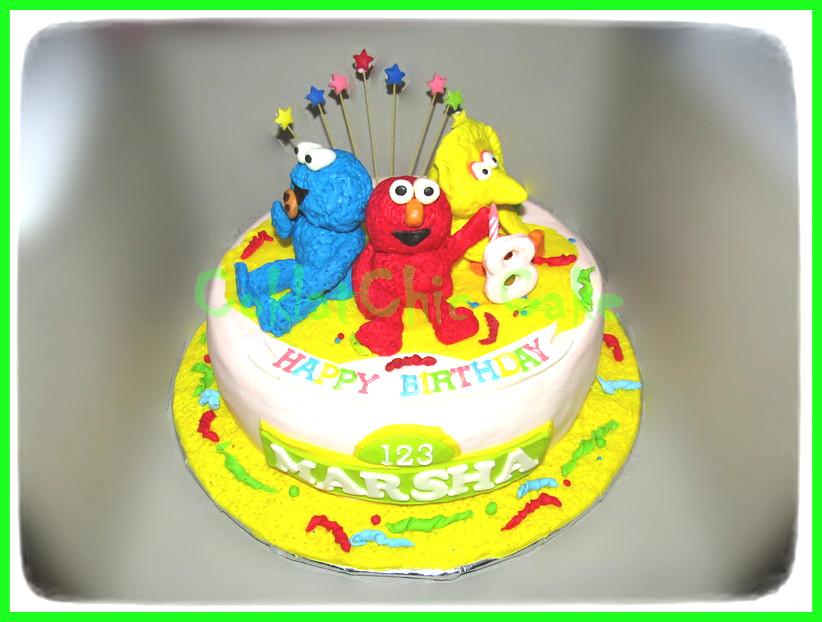 Cake Sesame Street MARSHA 15 cm