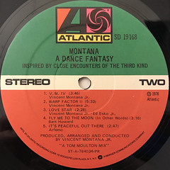 MONTANA:A DANCE FANTASY INSPIRED BY CLOSE ENCOUNTERS OF THE THIRD KIND(LABEL SIDE-B)