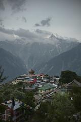 The village of Kalpa and Kinnaur Kalaish mountain range  #india #kinnaur #himachalpradesh #india #t3mujinpack