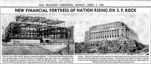 Building the San Fancisco Mint in 1936
