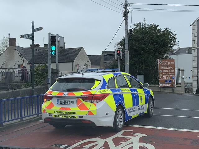 Irish Police Car - An Garda Siochana - Roads Policing - Hyundai Wagon - Ennis, County Clare