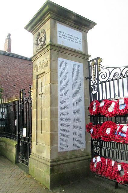 Oswestry War Memorial Names