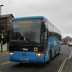 Southern Vectis Vanhool Alizee bodied Volvo B12M MV02ULL in Cowes 21 February 2019