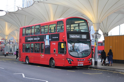 Arriva London VLW909 on Route 158, Stratford