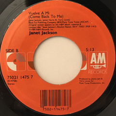 JANET JACKSON:COME BACK TO ME(LABEL SIDE-B)