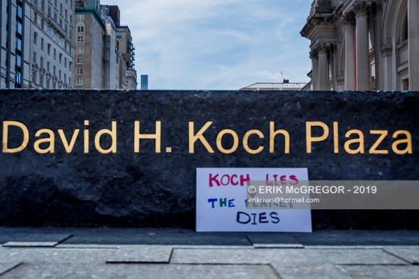 Koch Lies, the Planet Dies protest