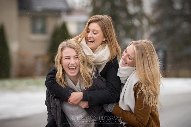 Winter family photos at Watson's Mill