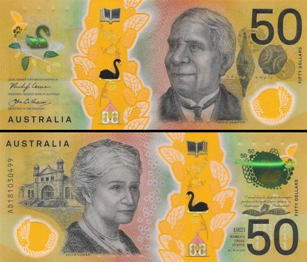 50 Dolárov Austrália 2018 P65 polymer