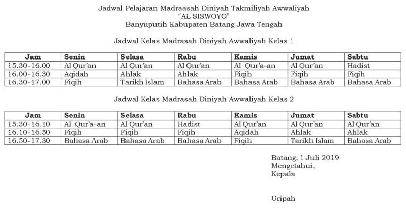 jadwal-pelajaran-madrasah-diniyah-takmiliyah-awwaliyah