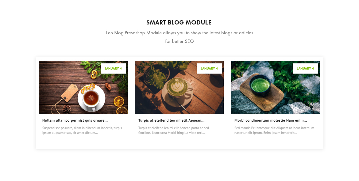 smart blog module - Leo Zlin - Tea Shop Prestashop theme