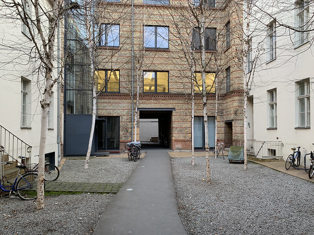 Linienstraße 144, interior courtyard (facing south)