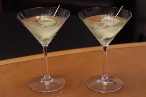 Hendrick's Martini (im Wohnzimmer serviert)
