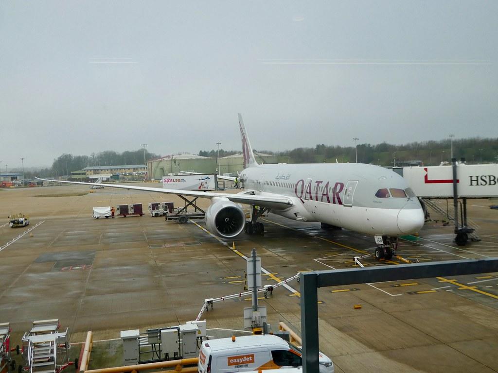 Our Qatar Airways 787-8 Dreamliner bound for Doha