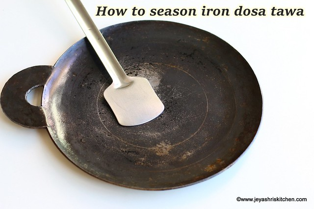 How to season iron tawa