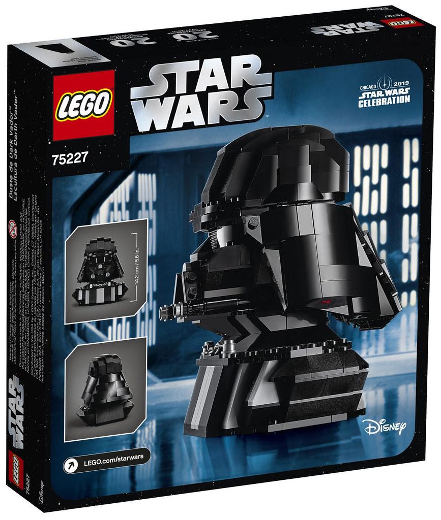 樂高 ×《星際大戰》20 週年紀念再一發! LEGO 75227《星際大戰》達斯·維德 Darth Vader 胸像【星戰慶典、Target REDcard限定】