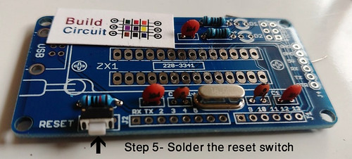 Step 5- Solder the reset switch