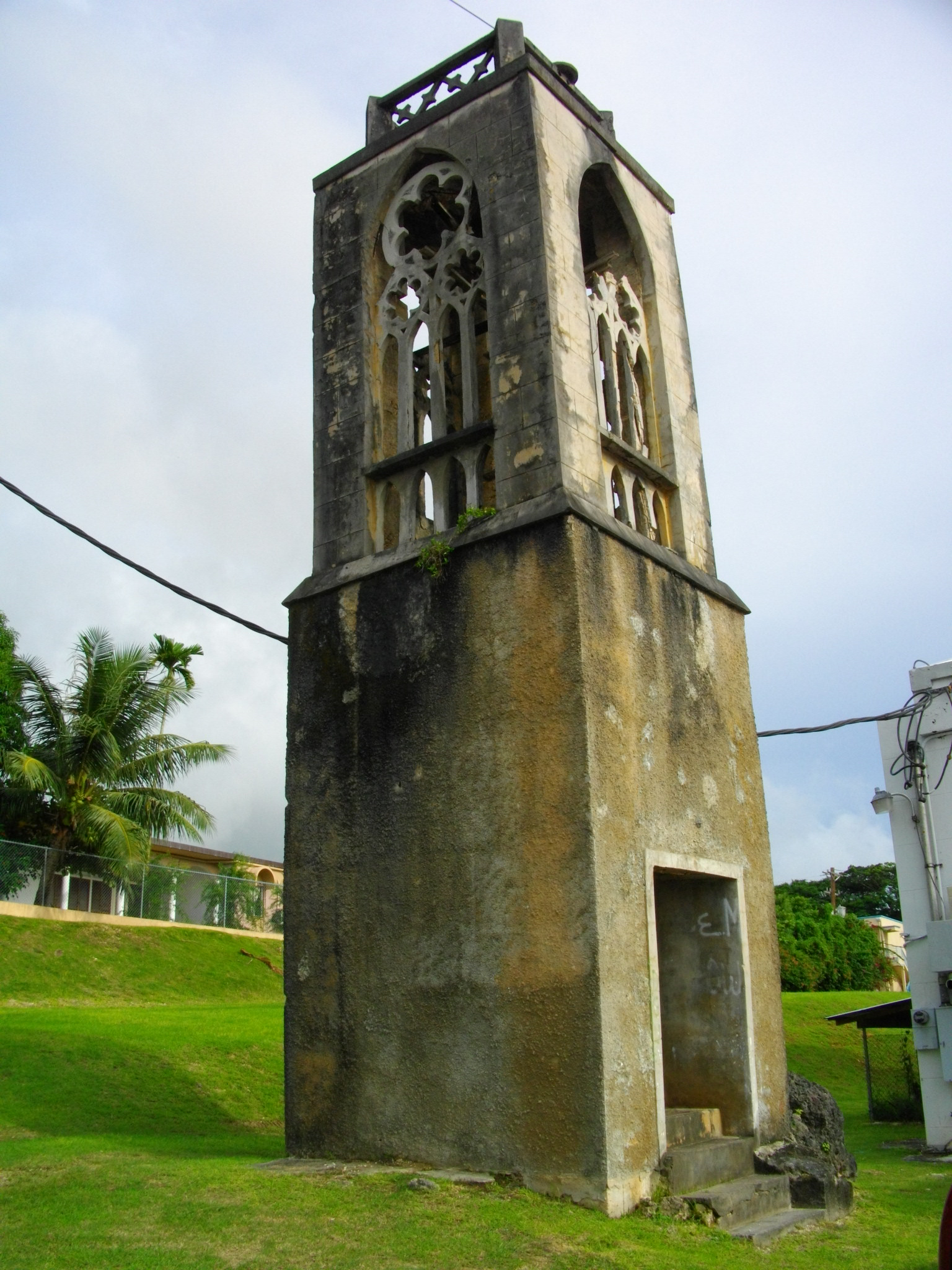 Colonial church tower, a vestige of the former Spanish colony in the Northern Mariana Islands. Photo taken on September 4, 2010.