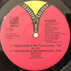 MAURICE:THIS IS ACID(A NEW DANCE CRAZE)(LABEL SIDE-B)