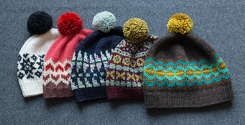 Anthology Recipe by tincanknits includes recipes for a hat, cowl or tubular cowl in multiple sizes and gauges