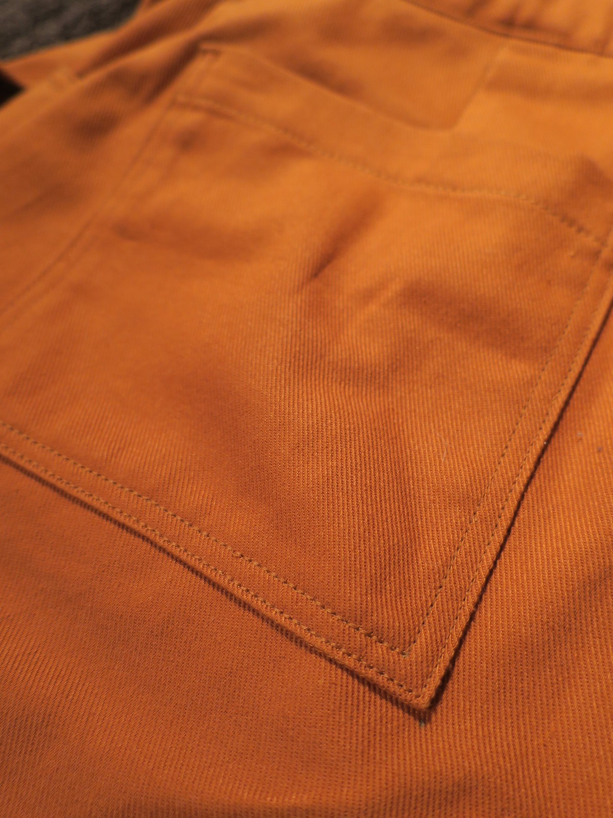 Lander pants top stitching