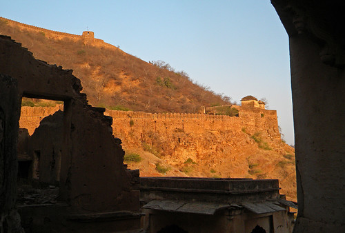 Bundi Fort in the hills above Bundi, India
