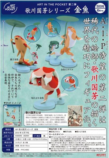 《奇譚俱樂部》AIP 第二彈『歌川國芳系列 -金魚-』!AIP 歌川国芳シリーズ 金魚