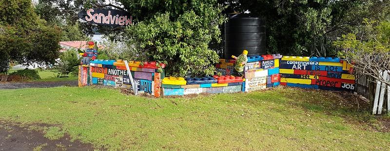 Opononi roadside art
