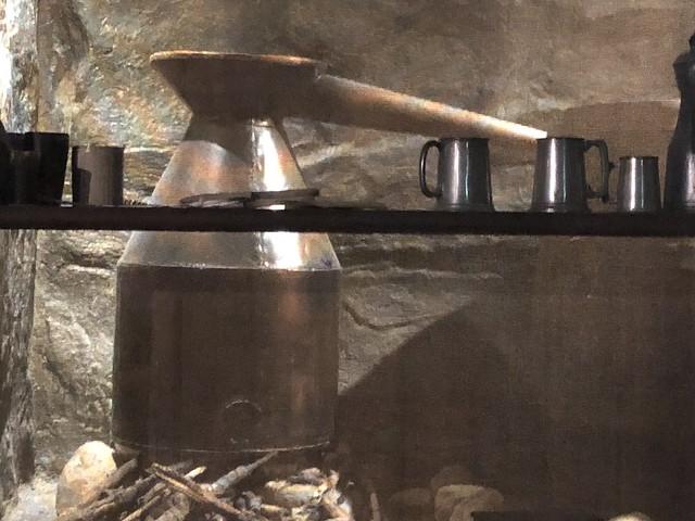 Illegal home still exhibit - Lochranza Distillery