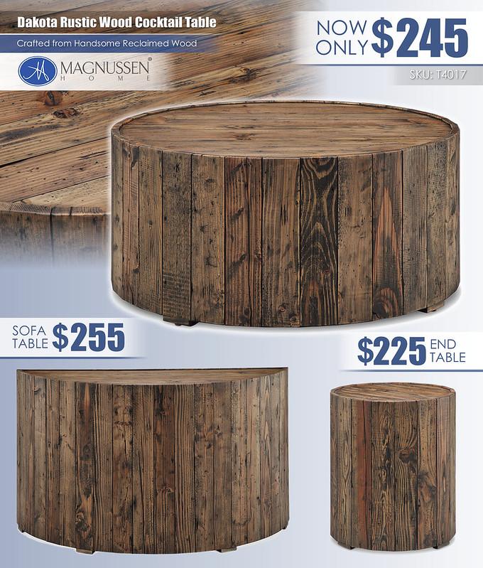Dakota Rustic Table Collection_T4017