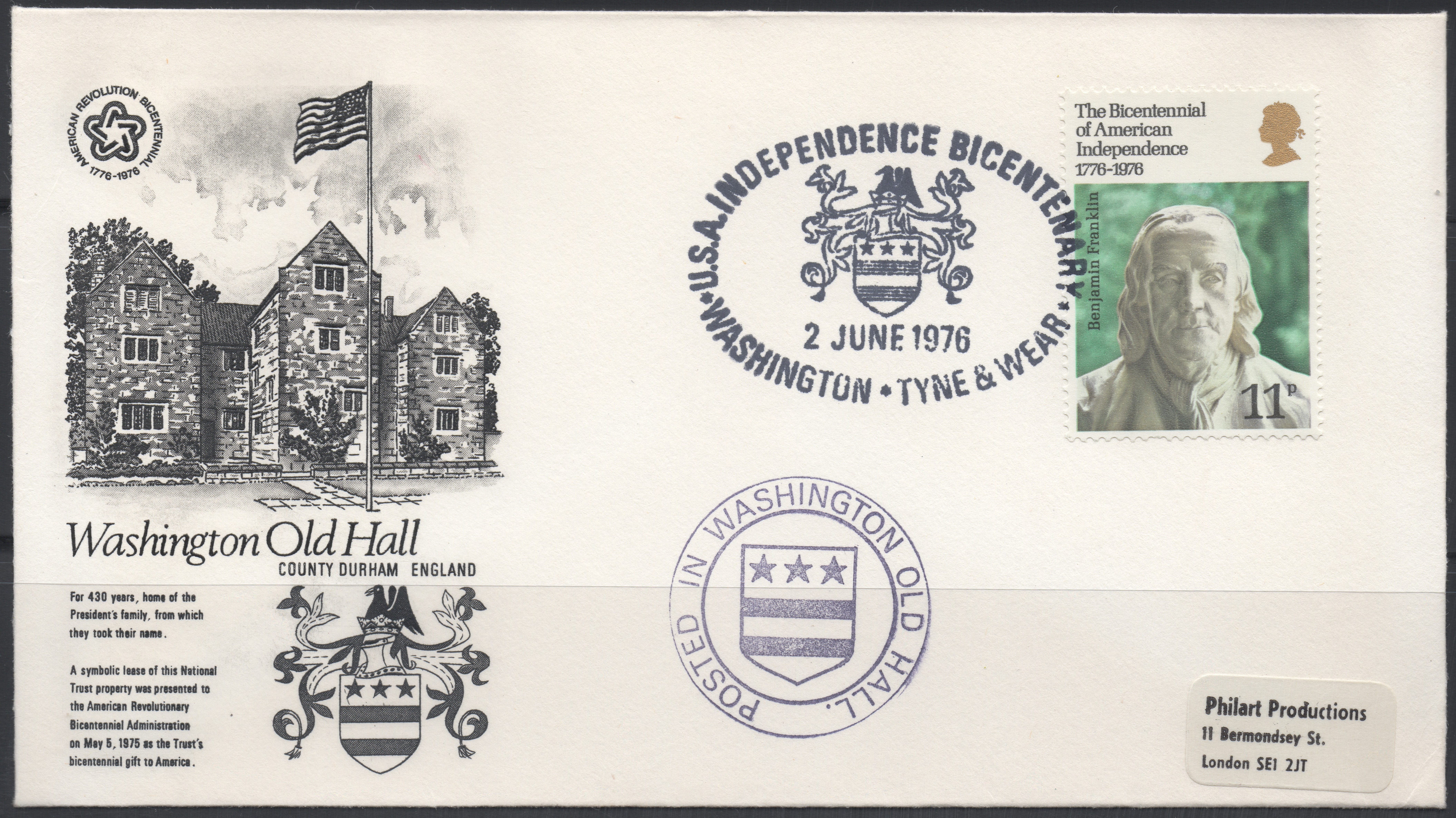 Great Britain - Scott #785 (1976) unofficial first day cover