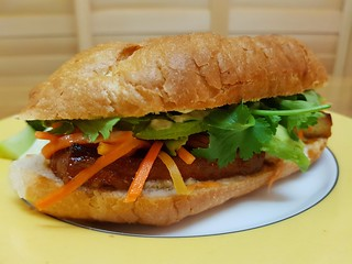 Banh Mi with Lemongrass Tofu and Ginger Aioli
