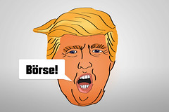 Boerse-als-Trump-Donald-Karikatur