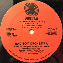 BAD BOY ORCHESTRA:DO YOU WANNA DANCE(LABEL SIDE-A)