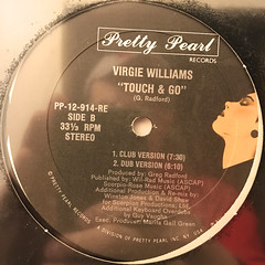 VIRGIE WILLIAMS:TOUCH & GO(LABEL SIDE-B)