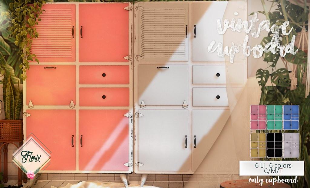 Florix. Vintage Cupboard @ Equal10