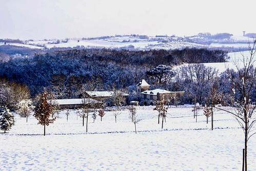 Châtelet sous la neige