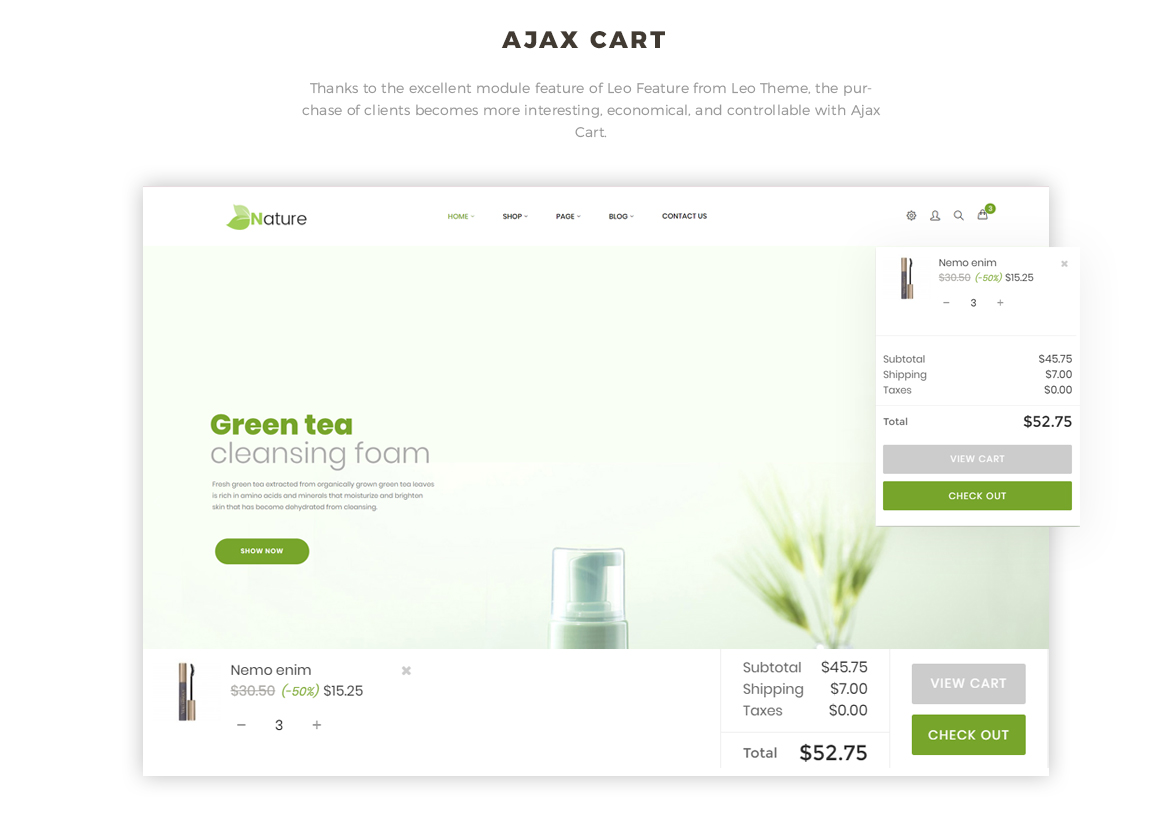 Ajax cart - Bos Nature - Skin Care and Beauty Spa